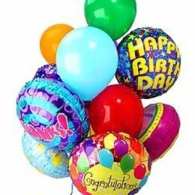 Arreglo de globos Feliz Cumpleaños