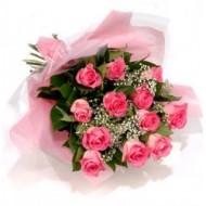 Bouquet de rosas rosadas a Ecuador