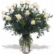 Jarron con 24 rosas
