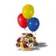 Arreglo primaveral con globos
