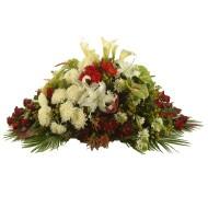 Manto funebre de flores mixtas
