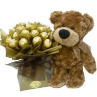 Osito con bouquet de Chocolates - Regalos
