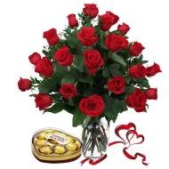 18 Rosas y Chocolates